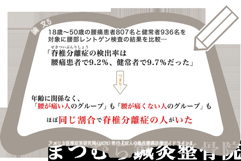 急性腰痛ガイドラインX線5